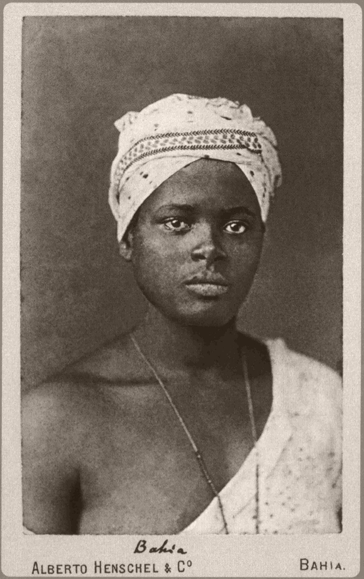 Foto de negra tirada na Bahia. 1870.
