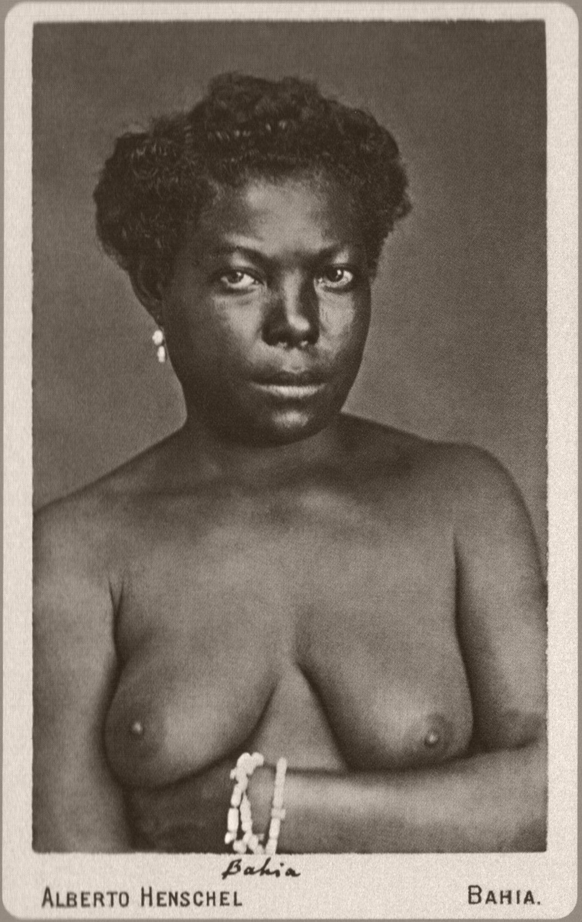 Nude of young Black girl. Salvador, province of Bahia. 1869