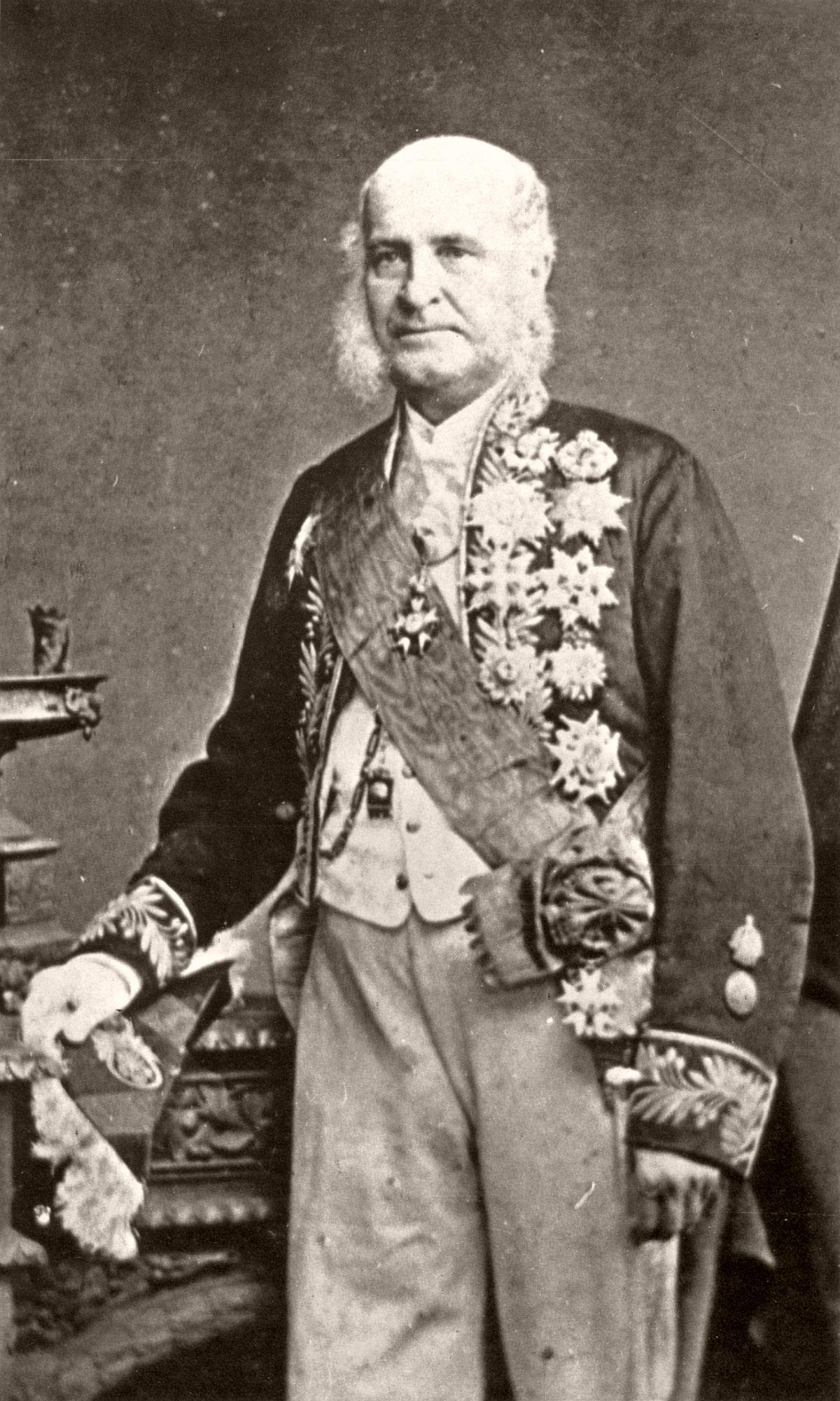 The last photograph of José Paranhos, Viscount of Rio Branco. 1880.
