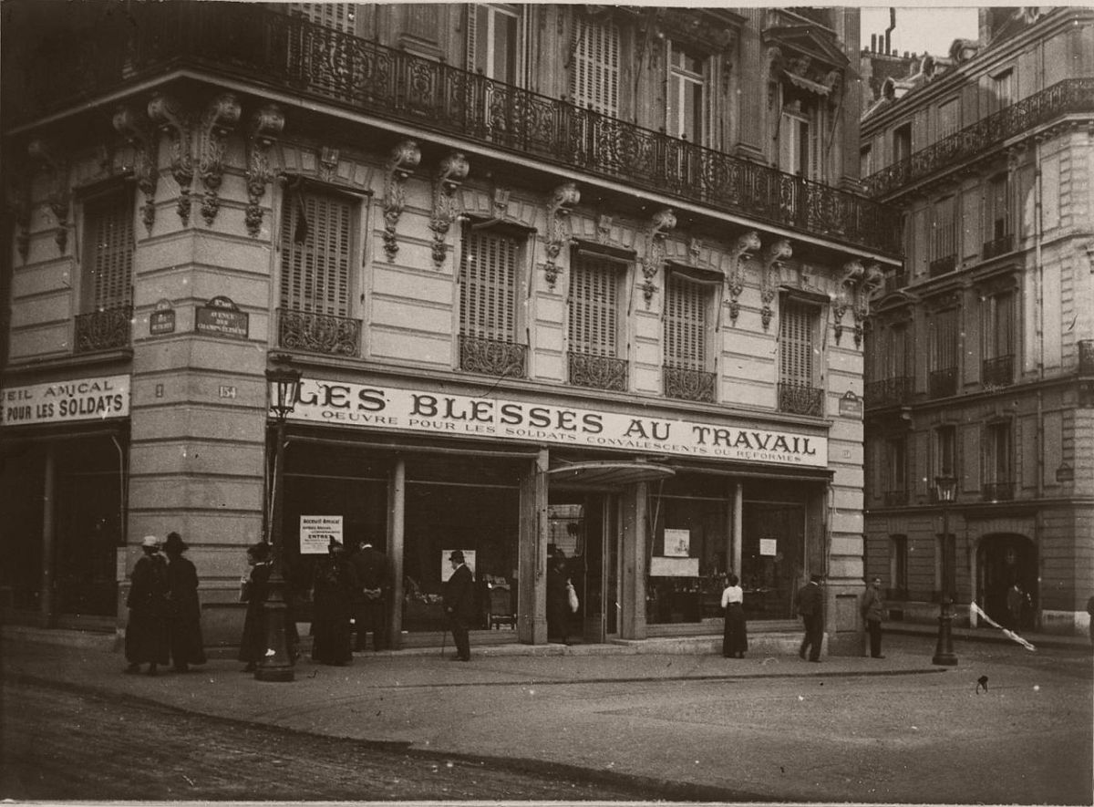 1915. Champs Elysees.