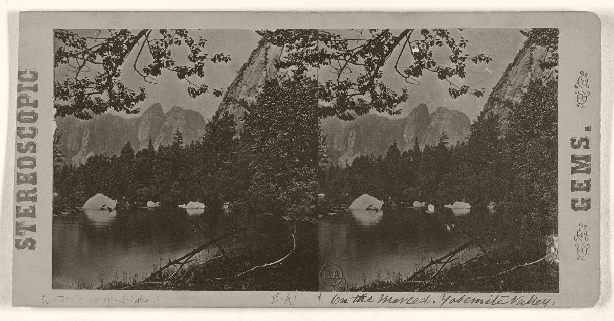 On the Merced, Yosemite Valley, 1868.
