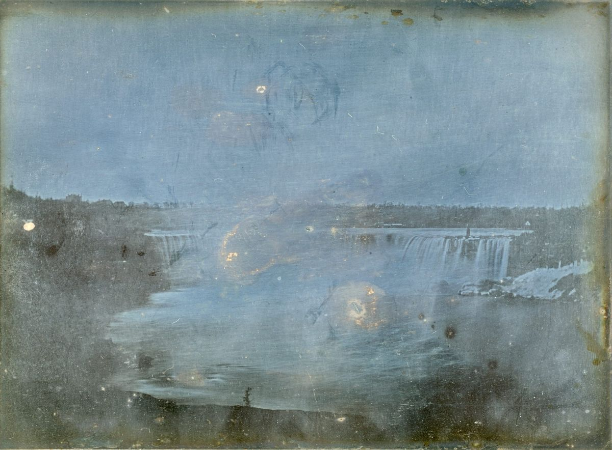 Hugh Lee Pattinson, American Falls, 1840, daguerreotype, 6 1/2 x 8 1/2 in., Robinson Library, Newcastle University, England