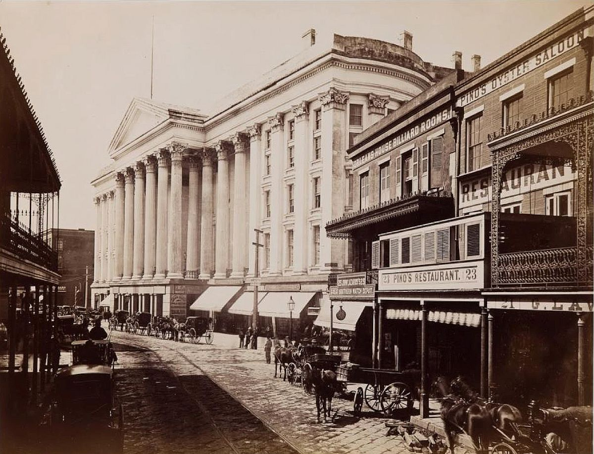 Theodore Lilienthal, St. Charles Hotel, New Orleans, 1867, albumen print, 10 3/4 x 13 13/16 in., New Orleans Museum of Art, Museum Purchase, 2013.21