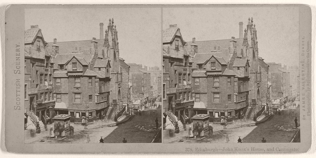 Edinburgh - John Knox's House, and Canongate, 1870s.