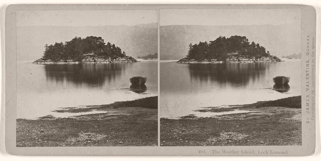 The Heather Island, Loch Lomond, 1870s.