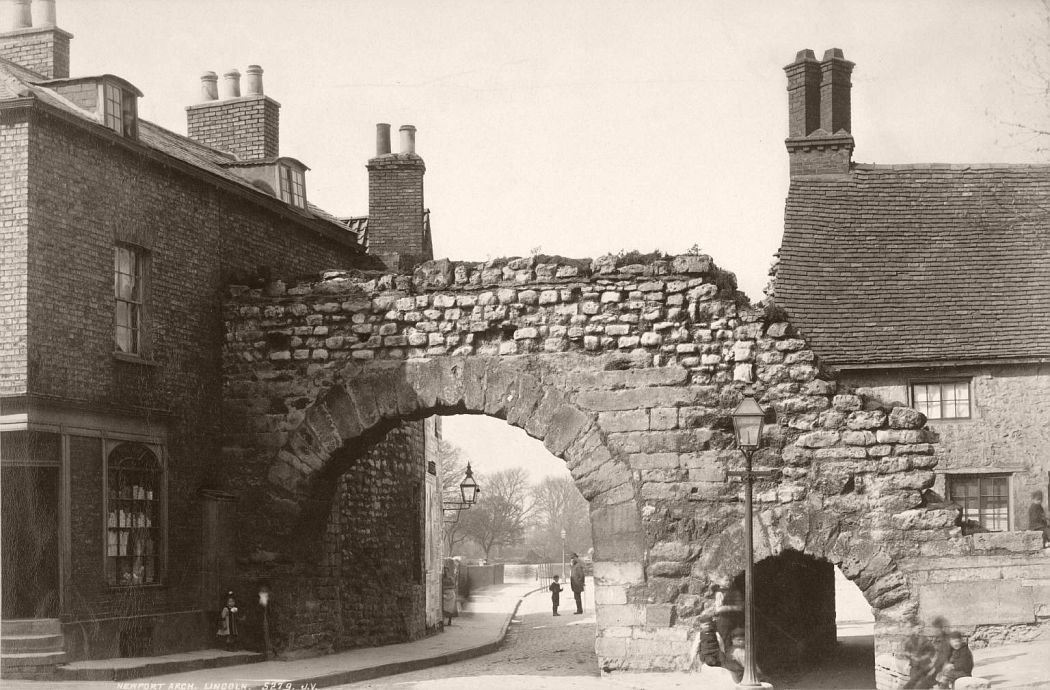 Lincoln. The Newport Arch, 1870s.