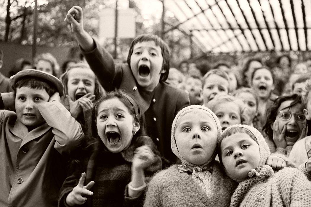 Children at a Puppet Theatre, Paris, 1963 by Alfred Eisenstaedt