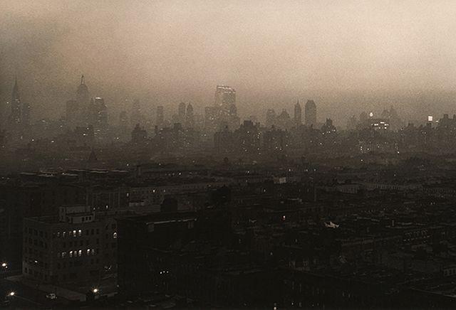 Paul J. Woolf, New York Skyline Evening Haze, c. 1936