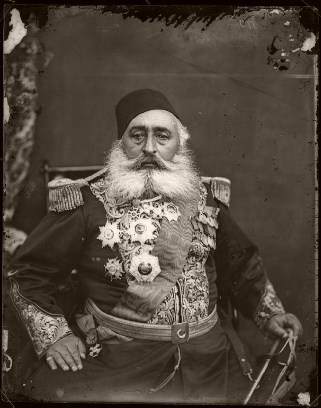 Ismail Pasha, 1875, Pietro Marubi, wet plate © Marubi National Museum of Photography