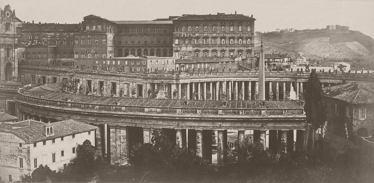 St. Peter's - Rome, 1860s.