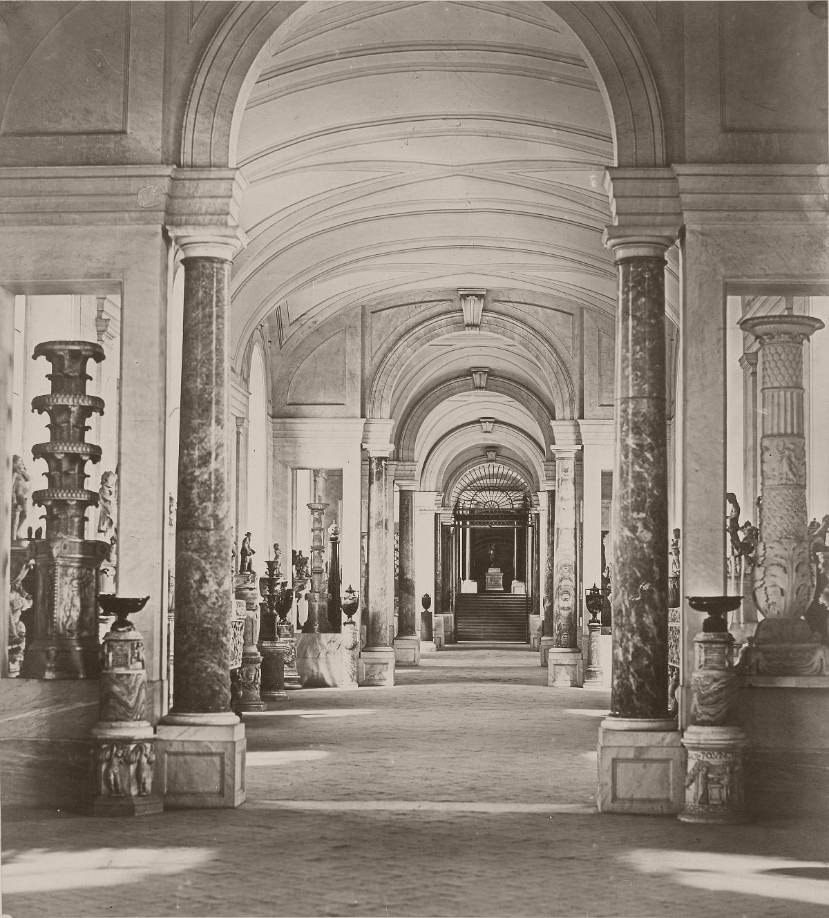 Hall of the Candelabra - Vatican, 1860s.