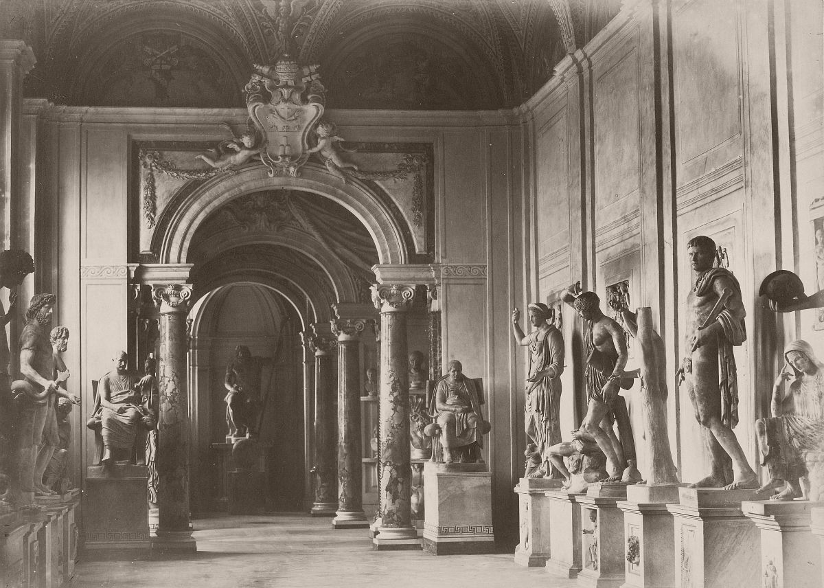 Hall of the Statues - Vatican Museum, 1860s.
