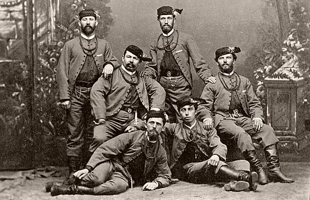 Group of members of Tábor Sokol club in garbs
