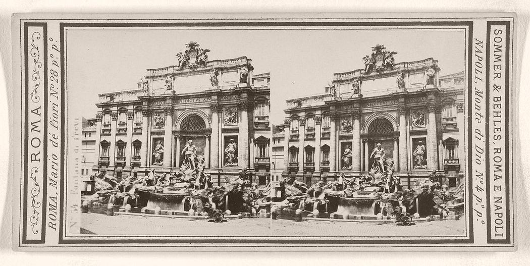 Fontana di Trevi, 1860 - 1872.