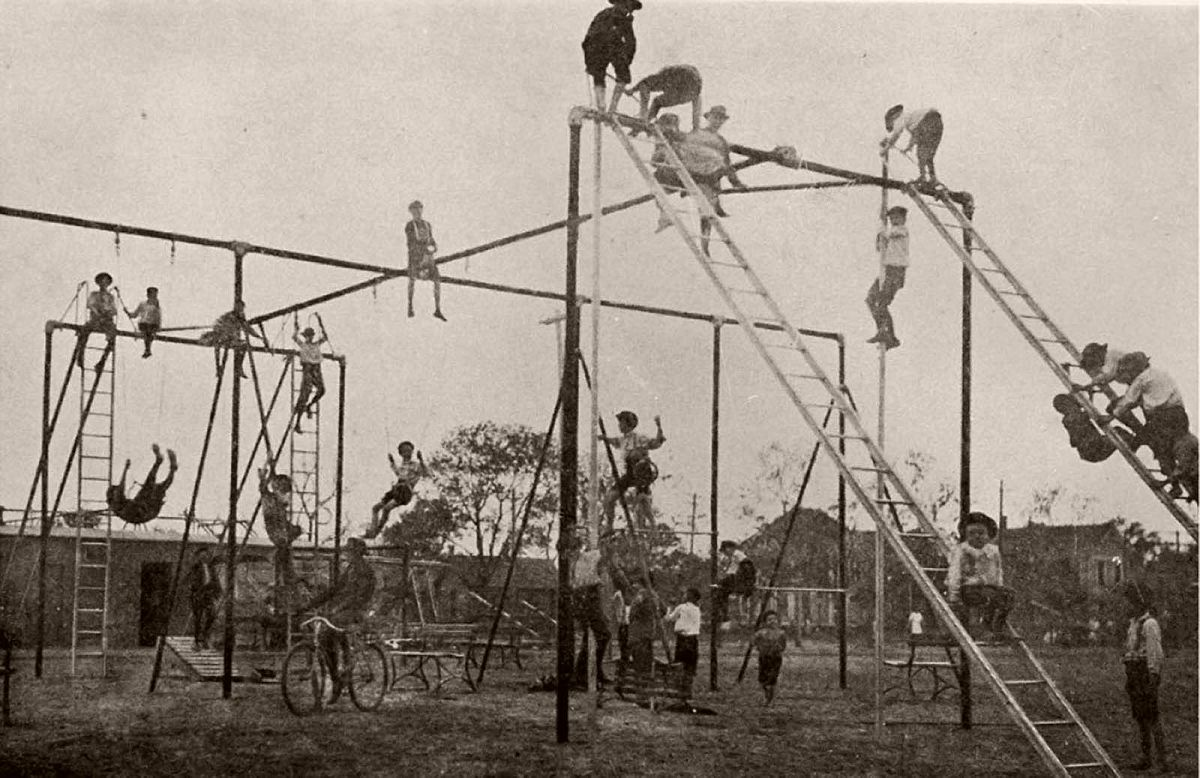 Playground in Dallas, Texas, early 1900s.