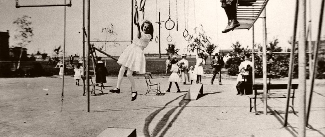 Vintage Early 20th Century Kids Playgrounds Monovisions