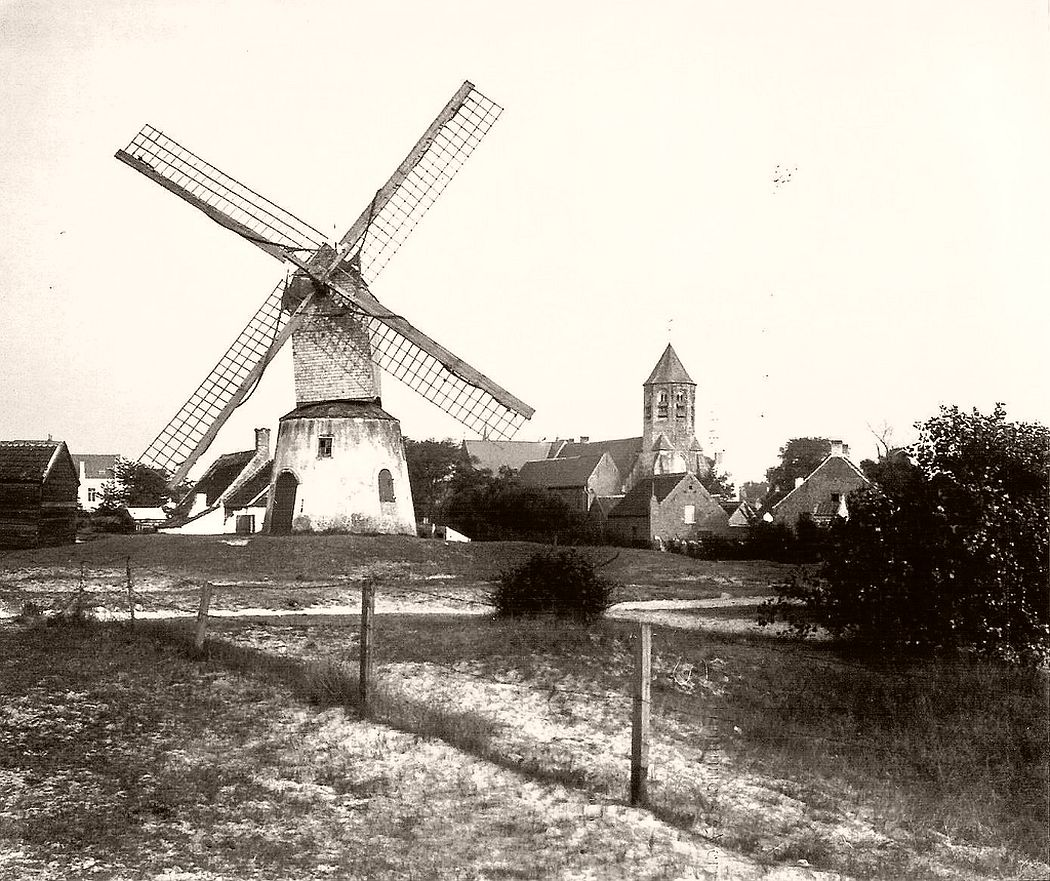 Wind-Mühle in Knokke-Le Zoute in 1904