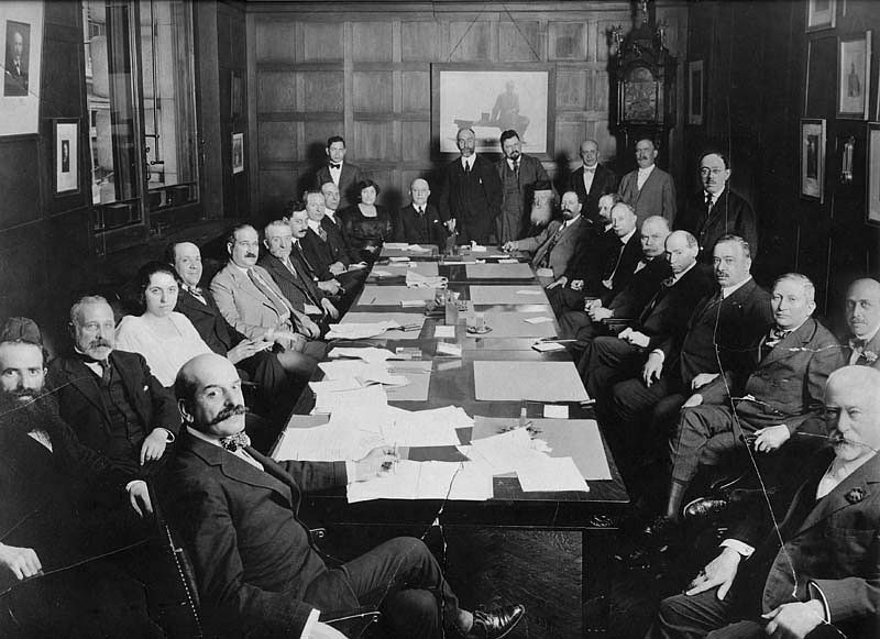 Jews of the U.S. who have distributed twelve million dollars of the relief moneys raised by American Jewry since the beginning of WWI. Jacob Schiff, philanthropist, international banker and one of the founders of the American Jewish Historical Society, appears in the lower right corner. August 16, 1918.