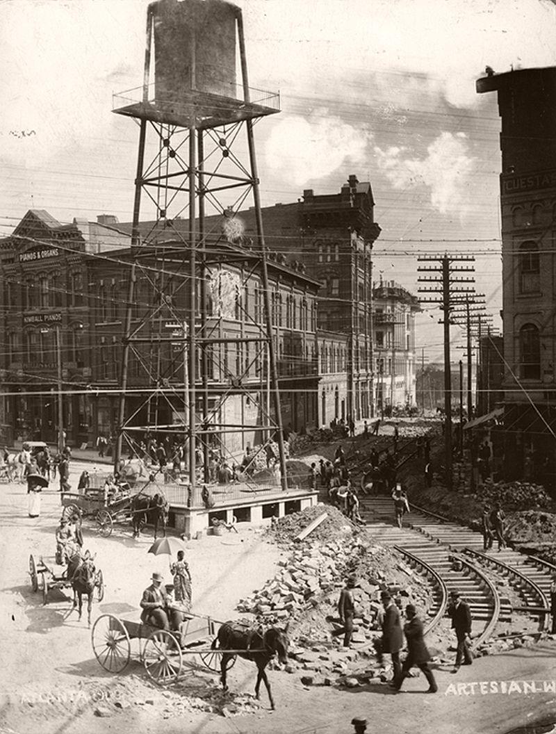 Atlanta's Five Points area, 1892