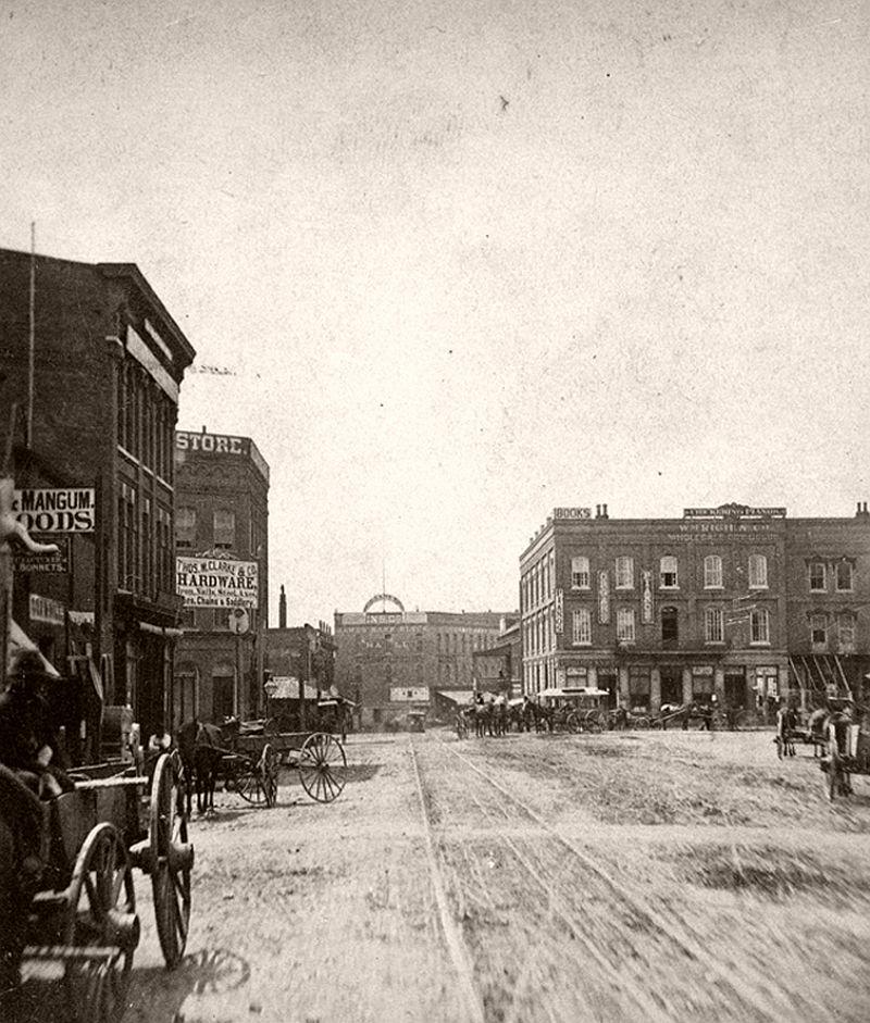 Peachtree Street in Atlanta, GA, 1875