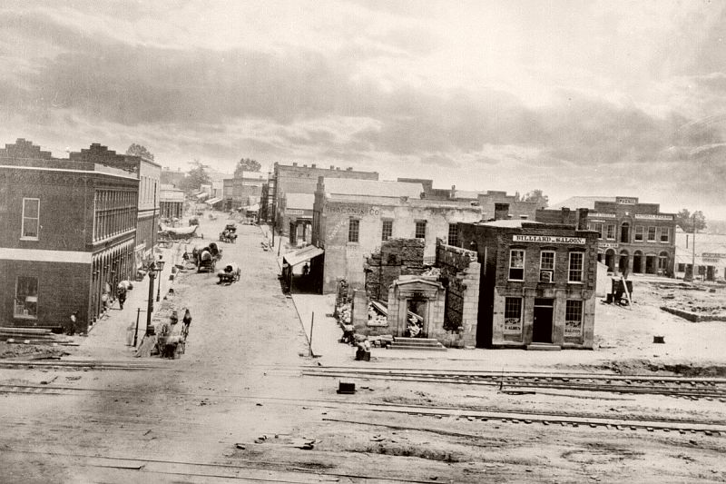 Peachtree Street, Atlanta, Georgia, 1864