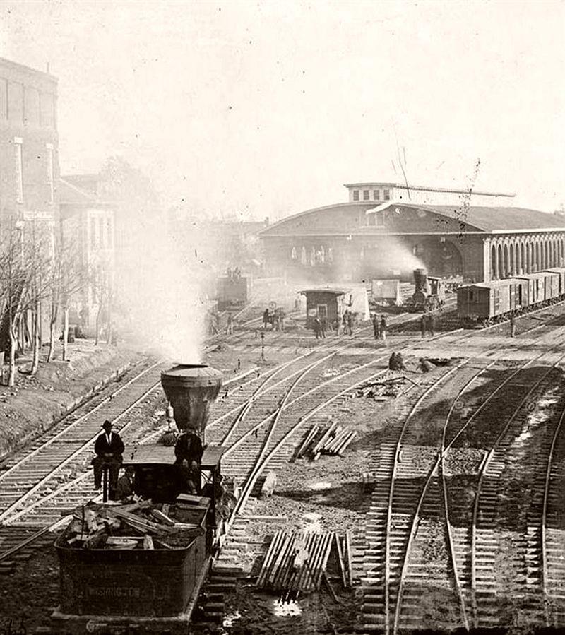Railroad yards, Atlanta, Georgia, 1864