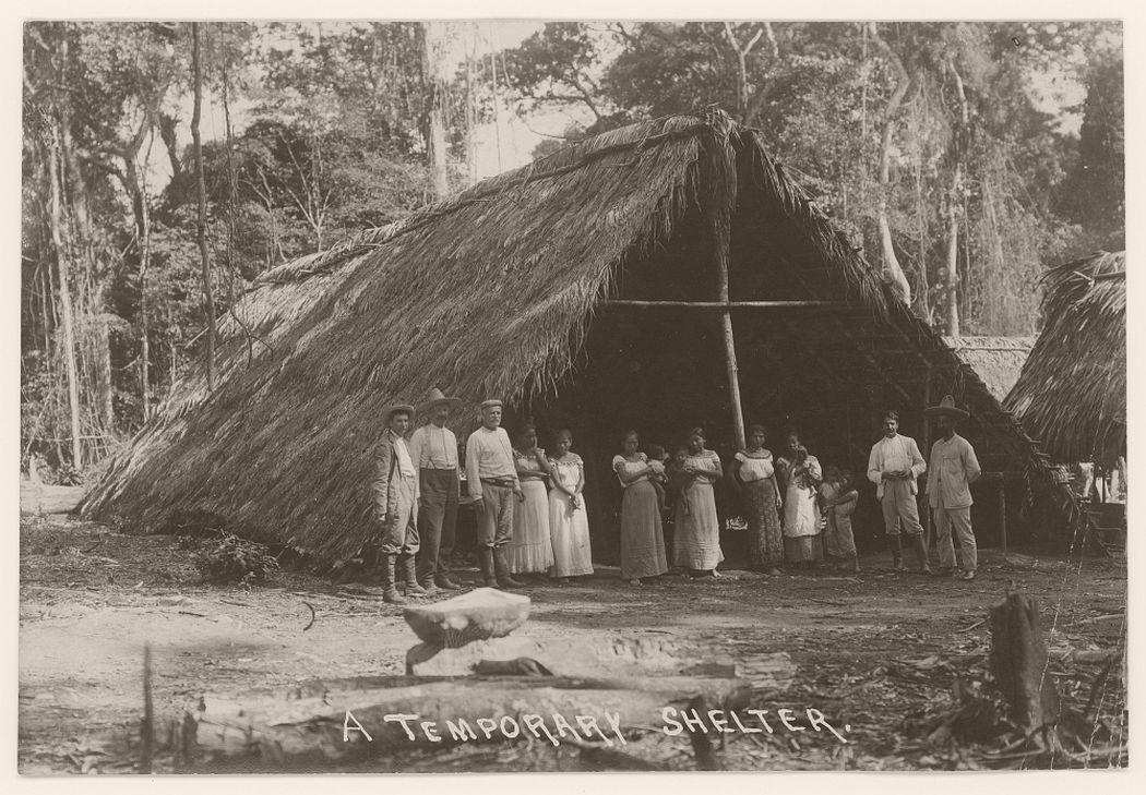 A temporary shelter, 1908