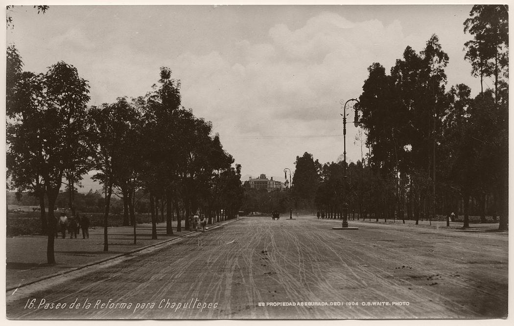 Paseo de la Reforma para Chapultepec, Mexico City, 1904