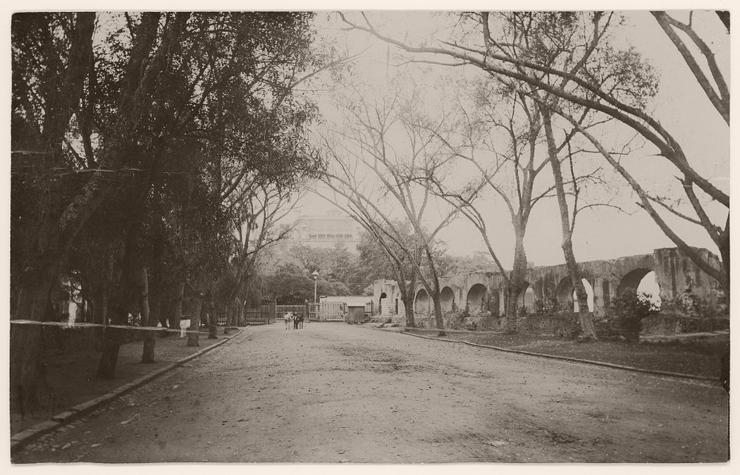 Chapultepec or Maxmile House taken from the Paseo, 1905