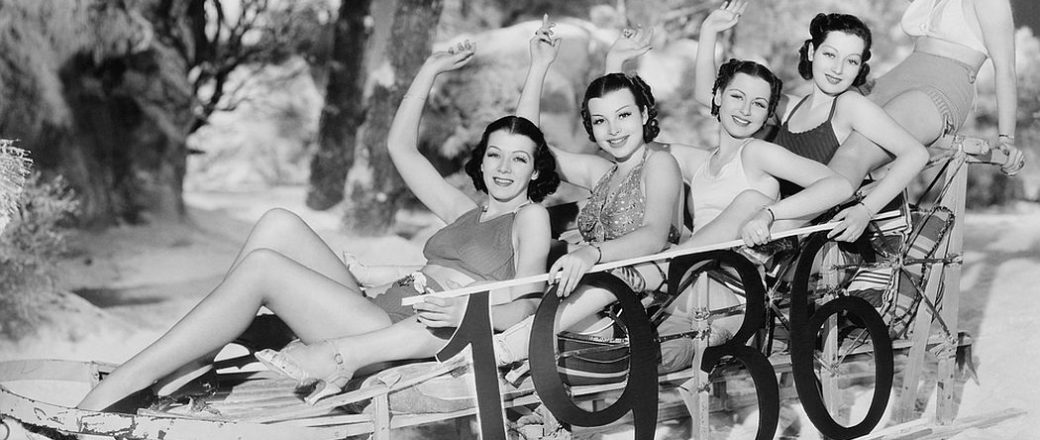 Vintage: Girls Celebrating the New Year's Eve (1930s)