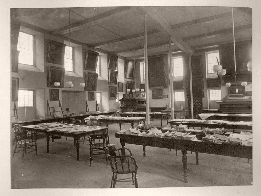 Massachusetts Hall interior, 1857-67