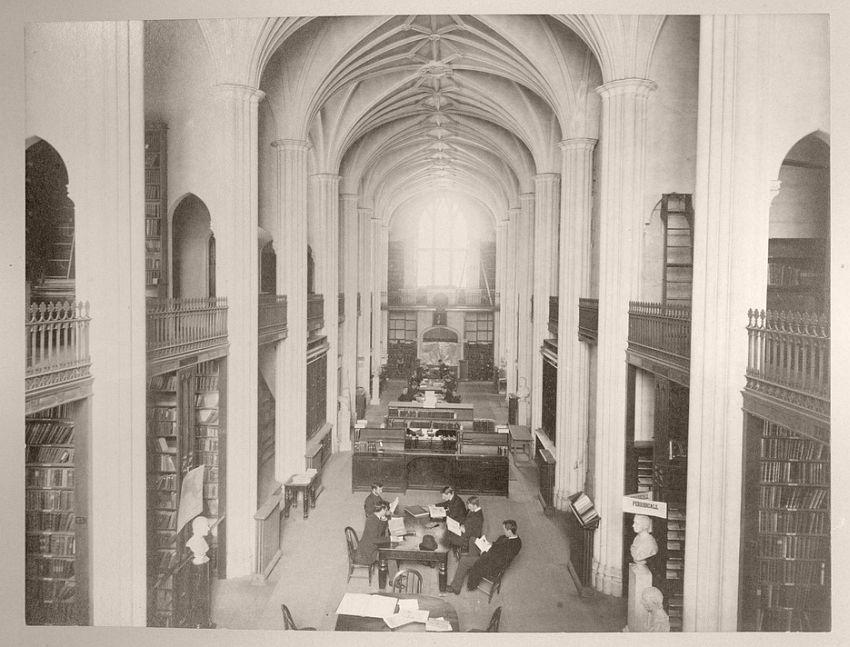 Gore Hall interior, 1861-71
