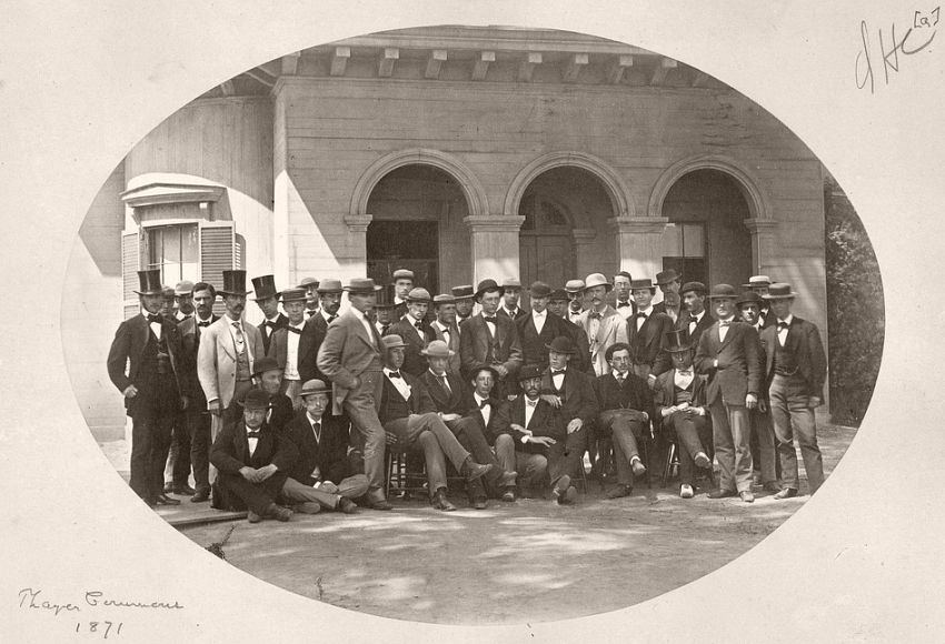 Group at Thayer Commons, 1871
