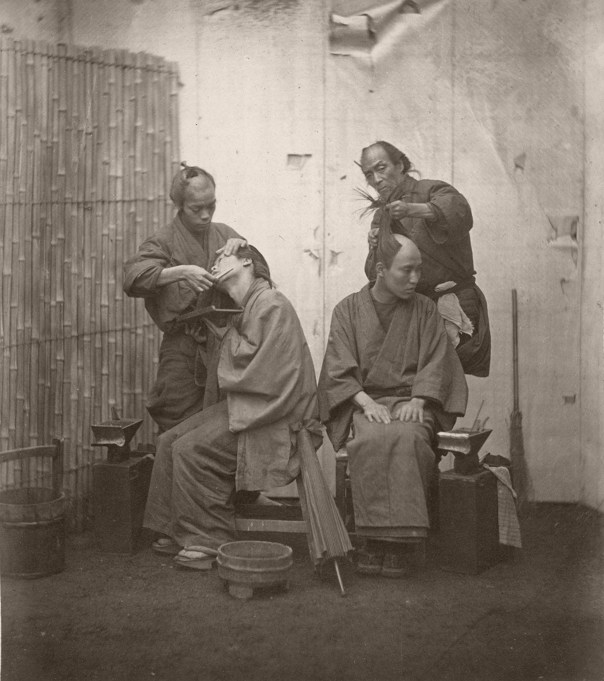 Barbers, Japan, 1868