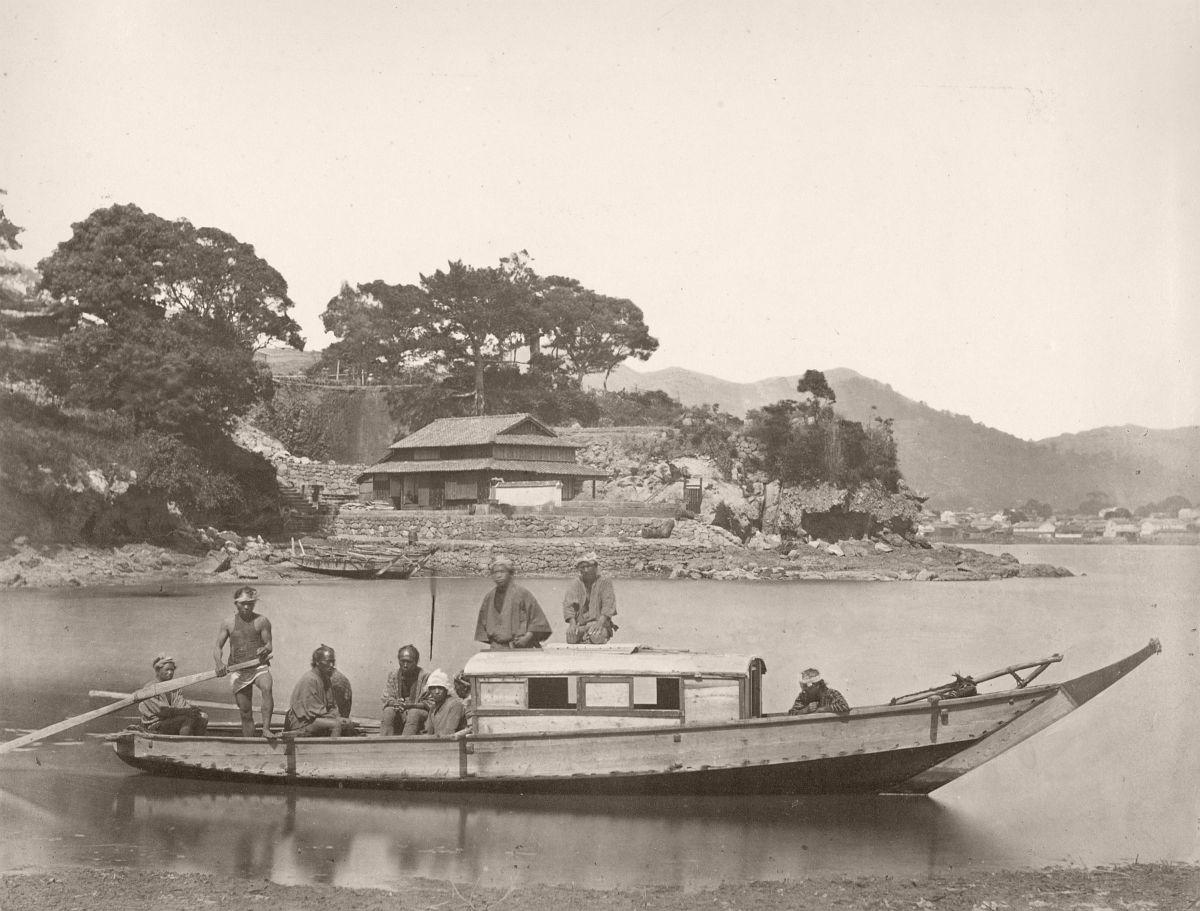 House Boat, Japan, 1866