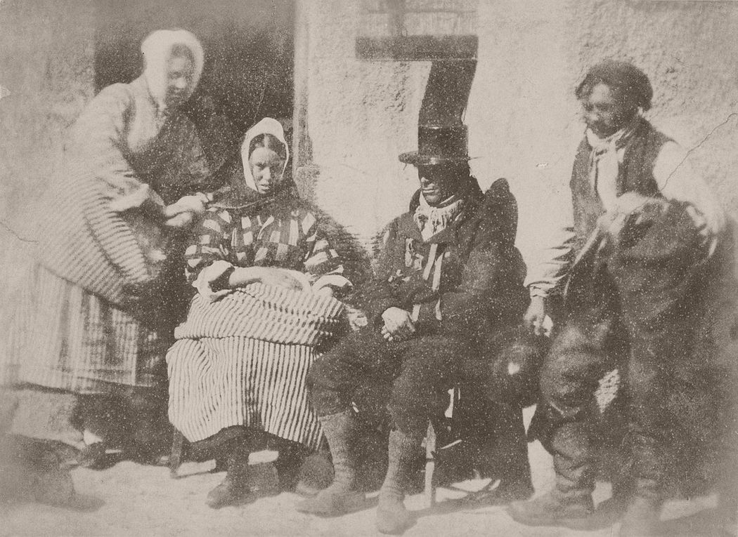 Mrs Logan, Mrs Seton and two unknown men, 1843