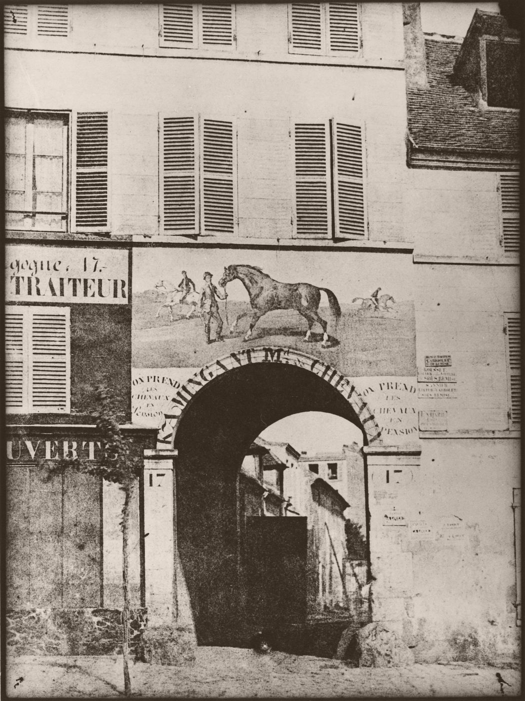 Arch and picture of horse (1847)