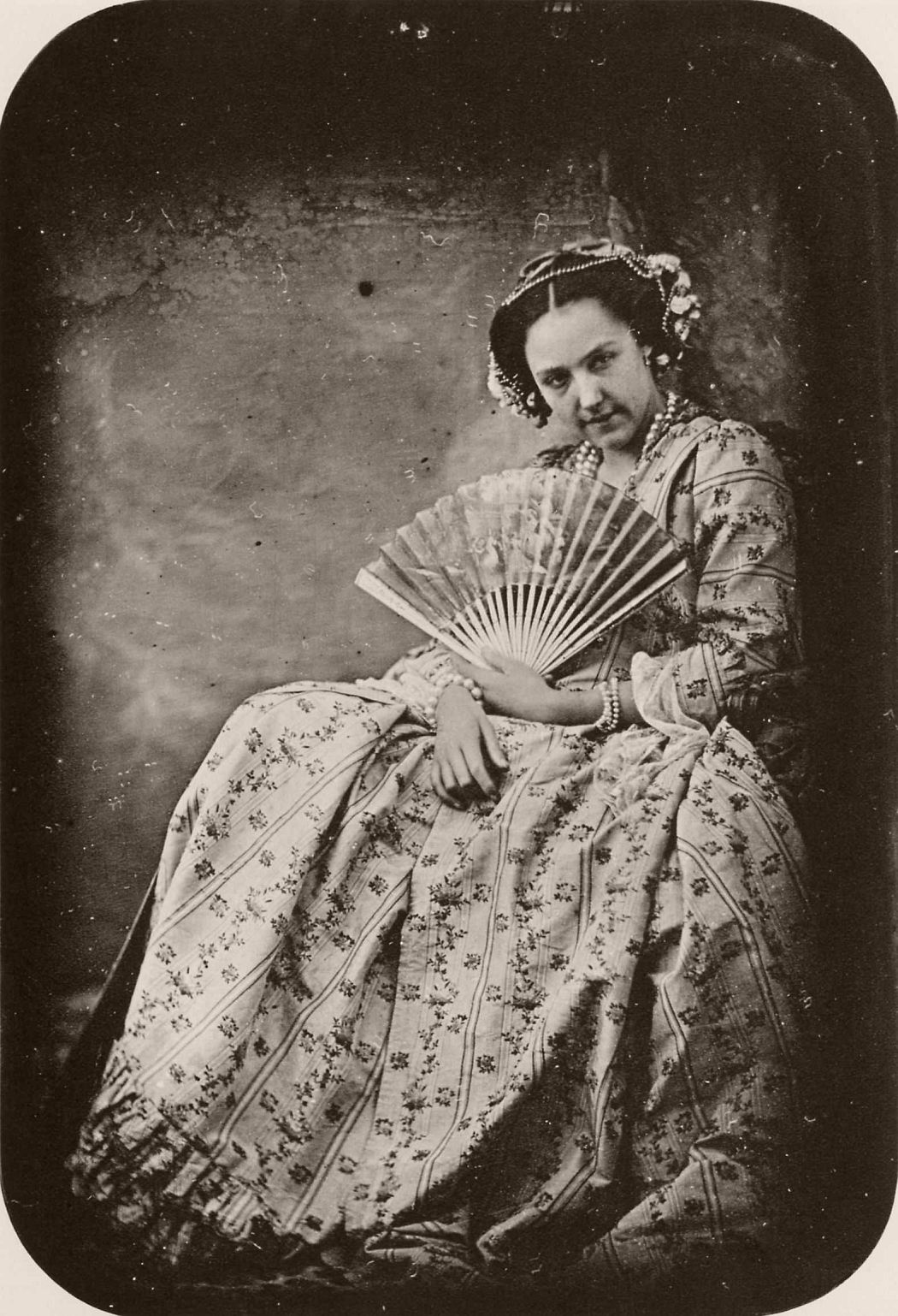 Woman with fan (1843)