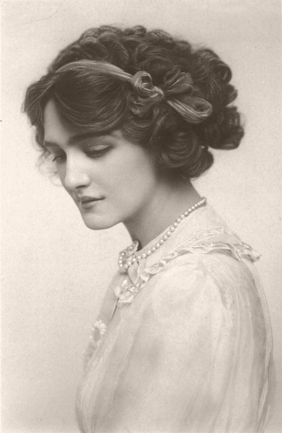 Lily Elsie (born Elsie Hodder; 1886 – 1962) was a popular English actress and singer during the Edwardian era.  Beginning as a child star in the 1890s, Elsie built her reputation in several successful Edwardian musical comedies before her great success in The Merry Widow, opening in 1907. Afterwards, she starred in several more successful operettas and musicals. Admired for her beauty and charm on stage, Elsie became one of the most photographed women of Edwardian times.