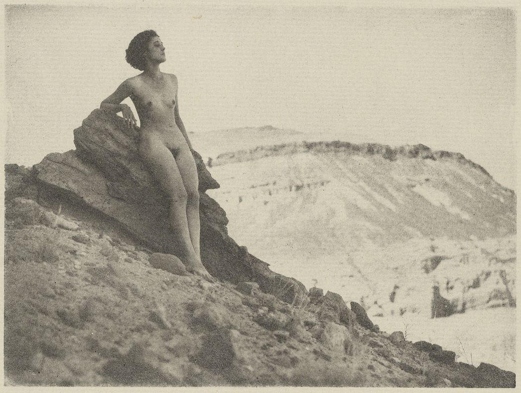Female Nude on Rocky Cliff, 1920