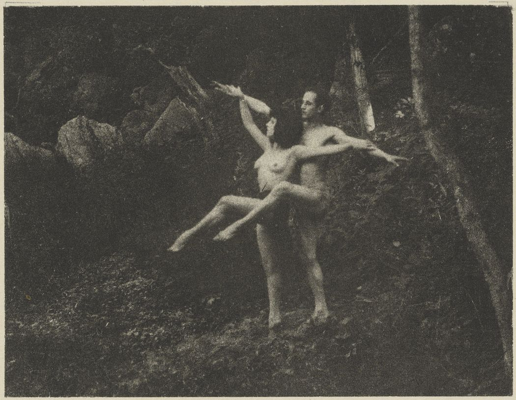 Nude Study: Man and Woman Dancers in a Forest Setting, 1920