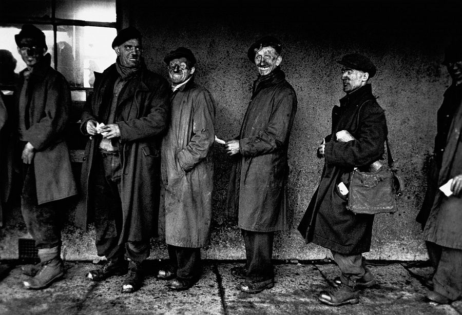 Robert Frank, Welsh Miners (1953), from the book London / Wales (2007), © Robert Frank