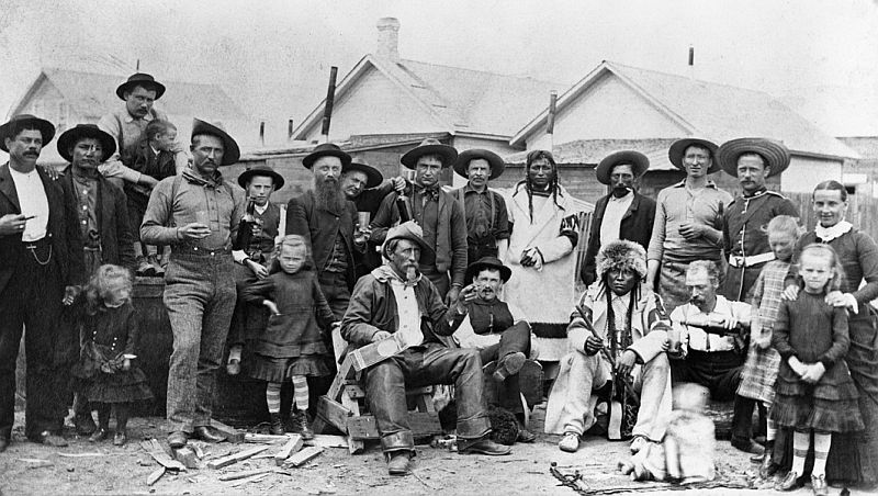 Group at Medicine Hat, Alberta, 1885