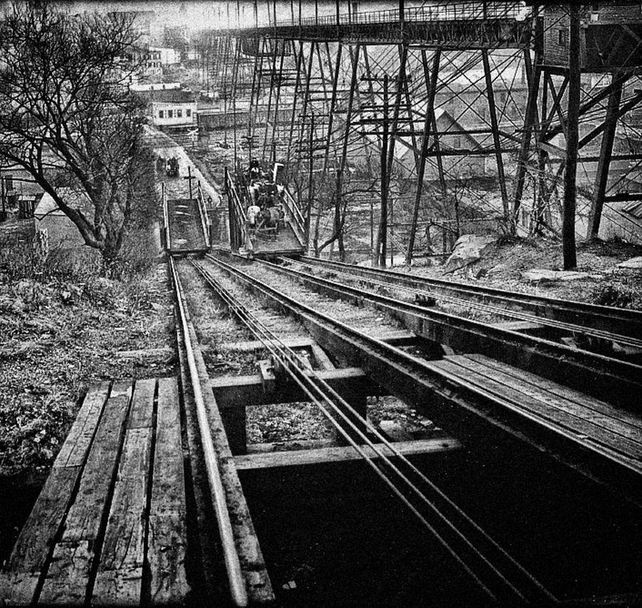 Hoboken to Jersey City trolley lift, 1915