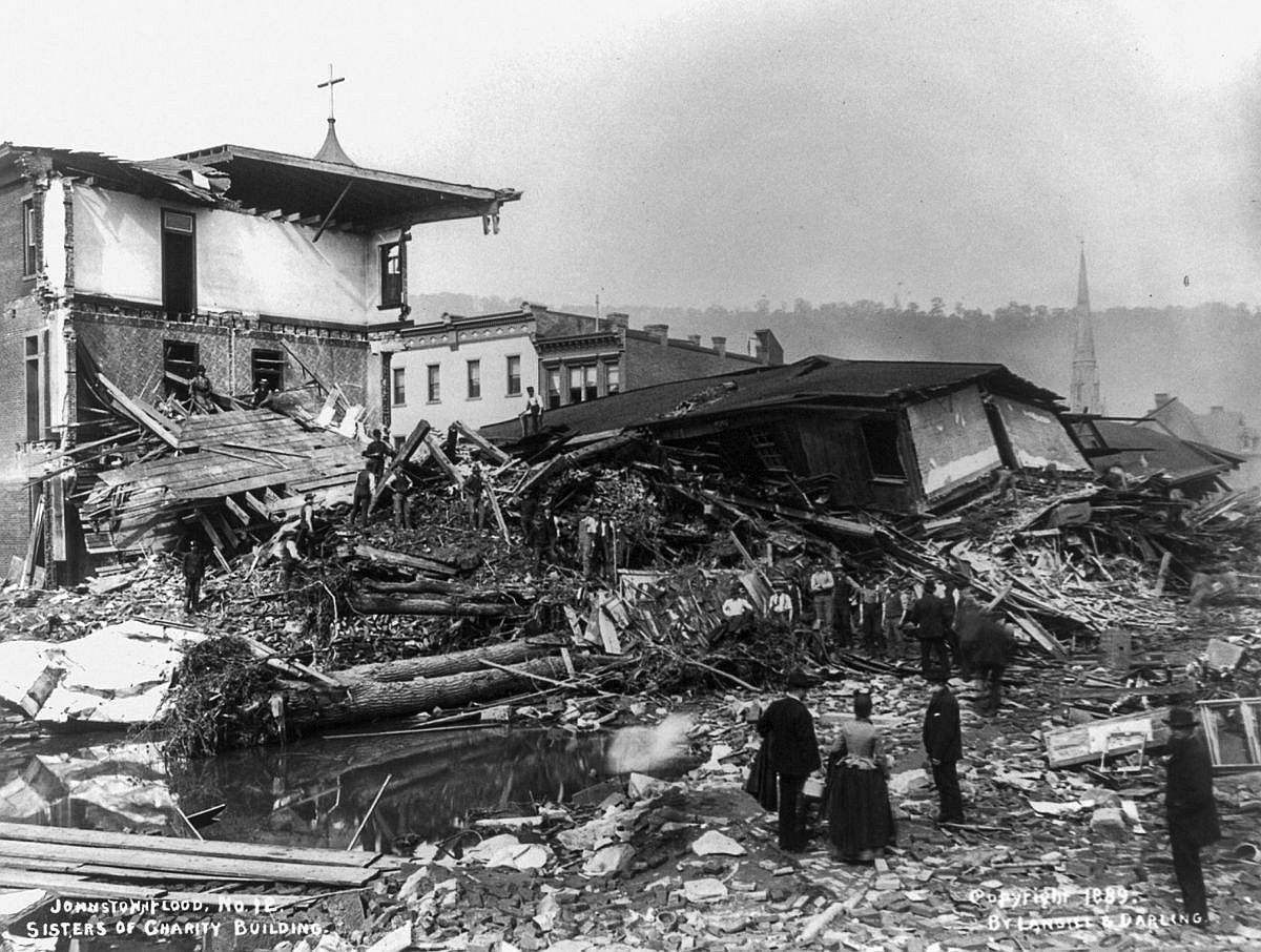 The ruins of the Sisters of Charity building.  Image: Library of Congress