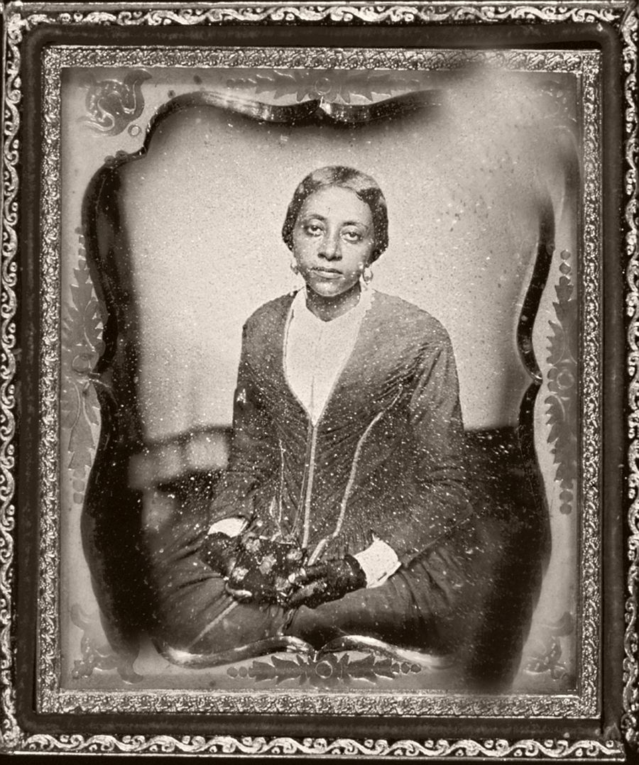 Unidentified woman, presumed member of the Urias McGill family.