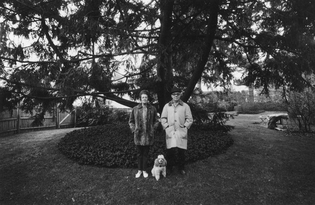 Mom, Chammie, and Dad, Backyard, Newton, MA, 1970