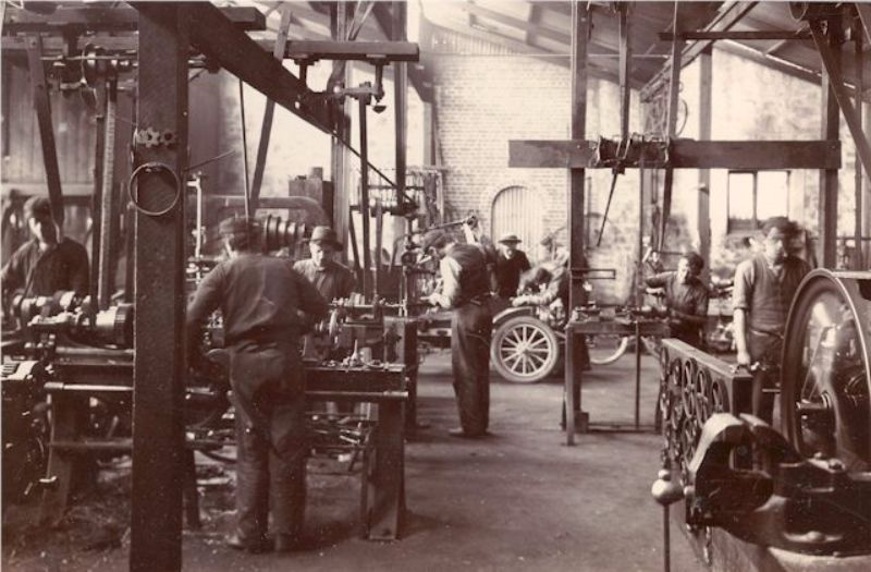 Overview of the McHenry Street workshop c1904