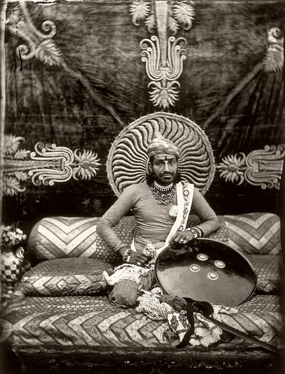 Self-portrait of the Maharajah Ram Singh III, in the royal palace of Jaipur, India, 1857–1865. (Photo by Maharaja Ram Singh III/Alinari via Getty Images)