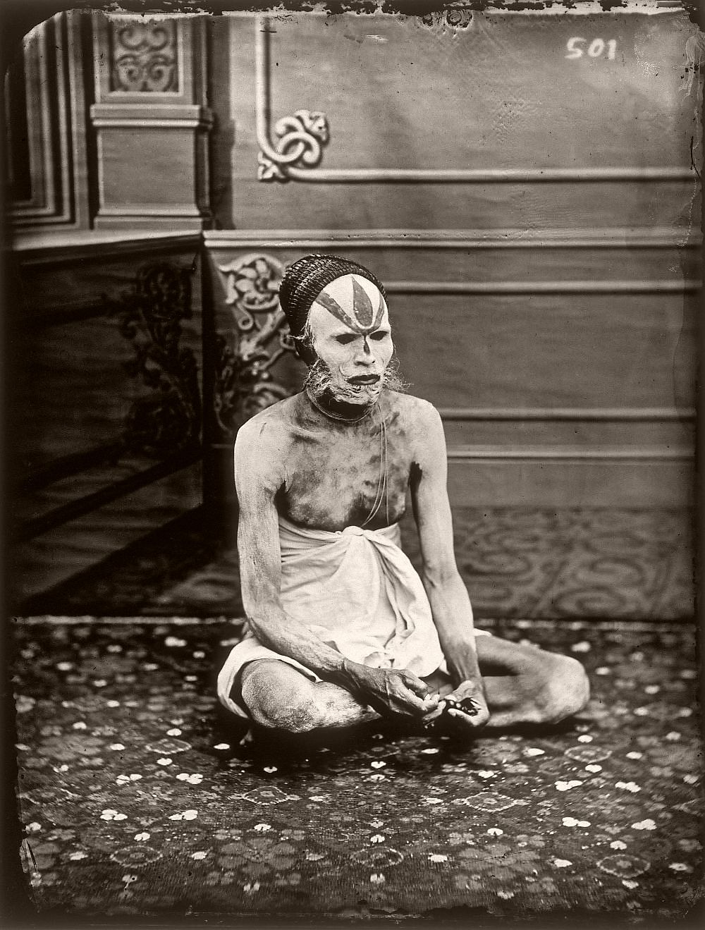 Portrait of a fakir, in the Royal Palace of Jaipur, India, 1857–1865. (Photo by Maharaja Ram Singh III/Alinari via Getty Images)